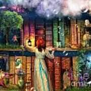 Fairytale Treasure Hunt Book Shelf Variant 2 Art Print