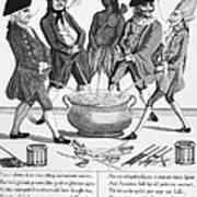 Treaty Of Paris Cartoon Art Print