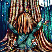 Tree Hugs Art Print