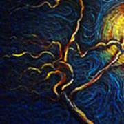 Tree In The Moonlight Art Print