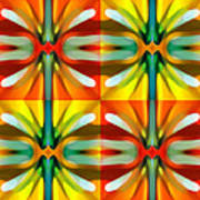 Tree Light Square Pattern Art Print
