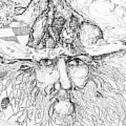 Tree Man Art Print
