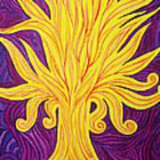 Tree Of Fire Art Print