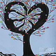 Tree Of Hearts Art Print by Marcia Weller-Wenbert