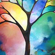 Original Art Abstract Art Acrylic Painting Tree Of Light By Sally Trace Fine Art Art Print