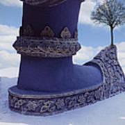 Tree On Shoe Art Print