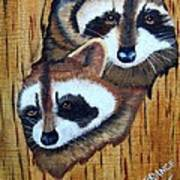 Tree Raccoons Art Print