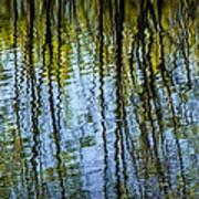 Tree Reflections On A Pond In West Michigan Art Print