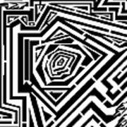 Tree Rings Abstraction Maze  Art Print