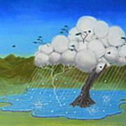 Tree Storm Art Print