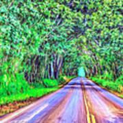 Tree Tunnel Kauai Art Print
