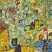 Tree Village Art Print