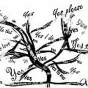 Tree Yes Tree Art Print