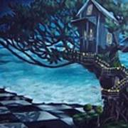 Treehouse Art Print by Lori Keilwitz