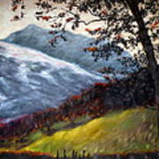 Trees And Hills Art Print