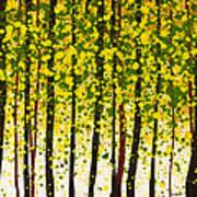 Trees At Twilight Xviii Art Print