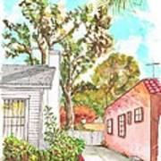 Trees Between Two Houses In West Hollywood - California Art Print