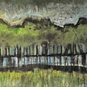 Trees By A Stream Art Print