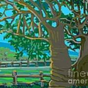 Trees In Love Art Print