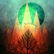 Trees Under Magic Mountains I I Art Print