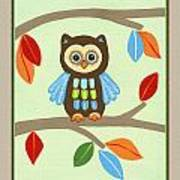 Treetop Friends - Owl Art Print