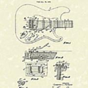 Tremolo Device 1956 Patent Art Art Print