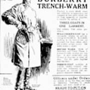 Trench Coat, 1917 Art Print