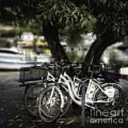 Tres Bikes Art Print