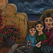Tres Mujeres Three Women Art Print by Victoria De Almeida
