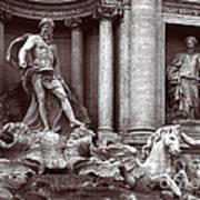 Trevi Fountain Detail Art Print