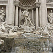Trevi Fountain In Rome Art Print