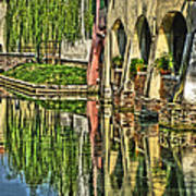Treviso Canal And Reflections Art Print