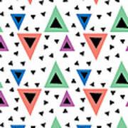 Triangular Dance Repeat Print Art Print