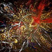 Tribal Phoenix Sword Art Print by Pretchill Smith