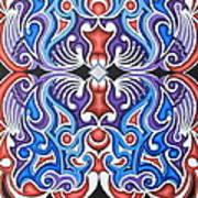 Tribal Symmetry 1 Art Print