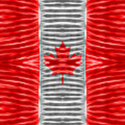 Triband Flags - Canada Art Print