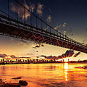 Triboro Sunset Art Print