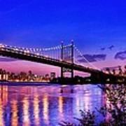 Triborough Bridge At Night Art Print