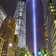 Tribute In Light And Freedom Tower Art Print