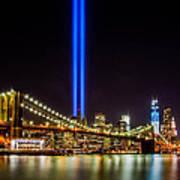 Tribute Lights From Brooklyn Art Print