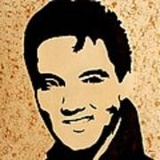 Tribute To Elvis Presley Art Print