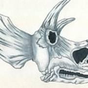 Tricerotops Skull Art Print