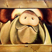 Tricia The Pig Art Print