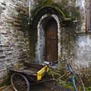 Tricycle Parked In Alleyway Art Print