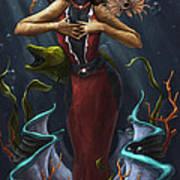 Tridacna - Red Art Print