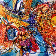 Trilul Pasarilor In Culori Art Print