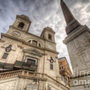 Trinita Dei Monti Church Art Print