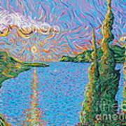 Trinity Lake 2 Art Print