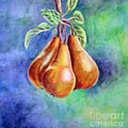 Trio Of Pears Art Print