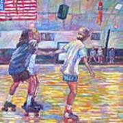 Trios At Dominion Skating Rink Art Print